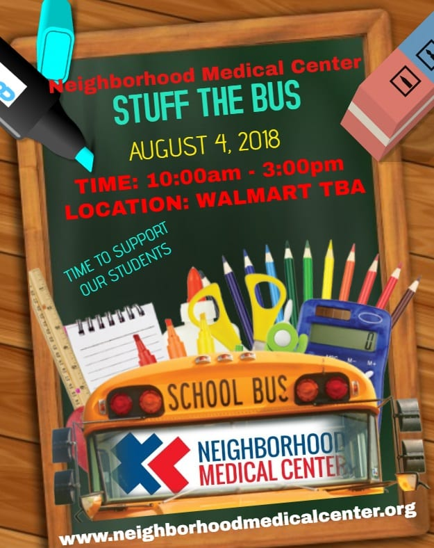 NMC stuff the bus flyer